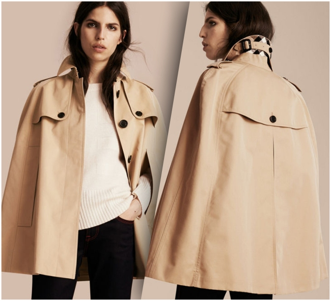 Burberry Gabardine Trench Coat (Front and Back Side).
