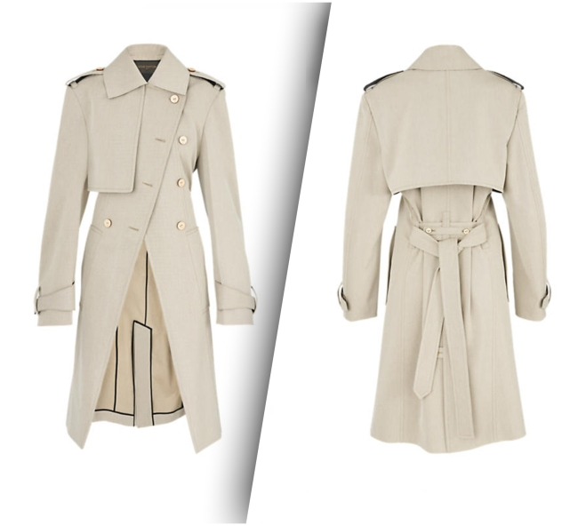 Louis Vuitton's Gabardine Trench Coat (Front and Back Side).