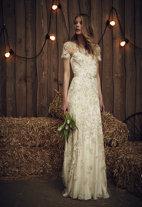 "Model photo c/o Jenny Packham Bridal Collection ""Cassiopeia"" Dress"