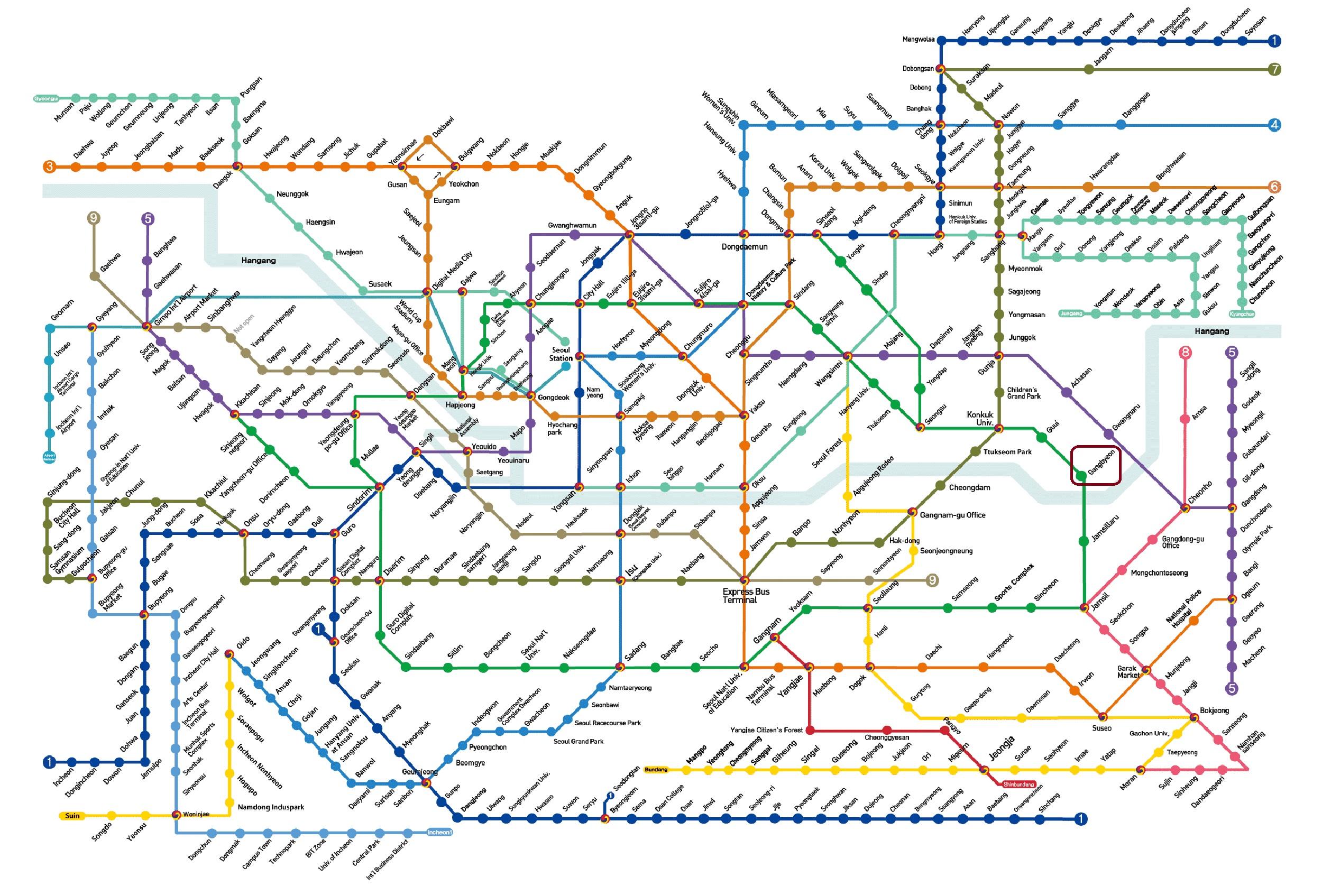 Subway Map 2016.Seoul Subway Map Gangbyeon Drama Chronicles