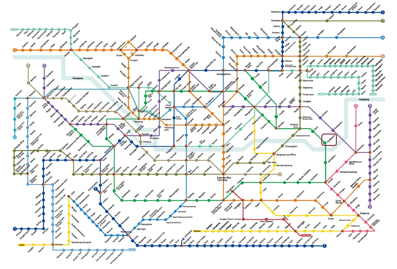 Seoul Subway Map Gangbyeon