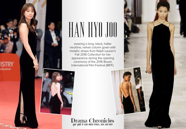 Han Hyo Joo photo during BIFF c/o TV Report | Model photo c/o Vogue from Ralph Lauren Fall 2016 Collection