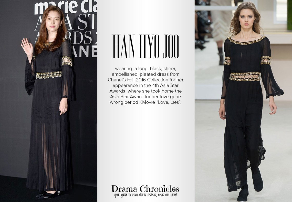 Han Hyo Joo photo during BIFF c/o TV Report   Model photo c/o Vogue from Ralph Lauren Fall 2016 Collection