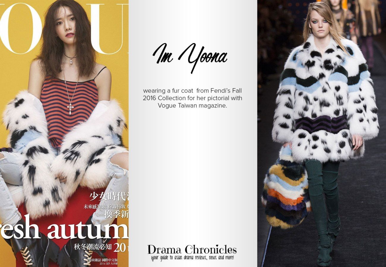 Im Yoona photo c/o Vogue Taiwan | Model photo c/o Vogue from Fendi's Fall 2016 Collection