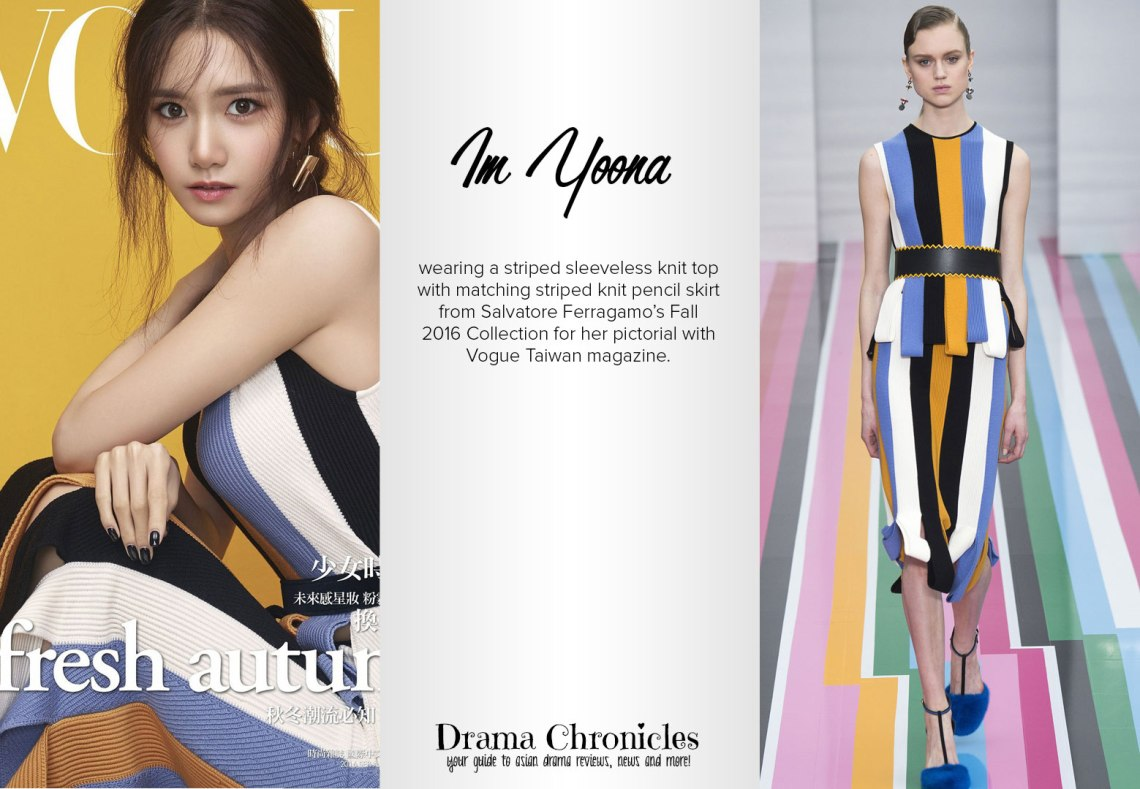 Im Yoona photo c/o Vogue Korea | Model photo c/o Vogue from Christian Dior's Fall 2016 Collection
