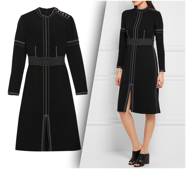 Burberry Regimental Wool Silk Shift Dress