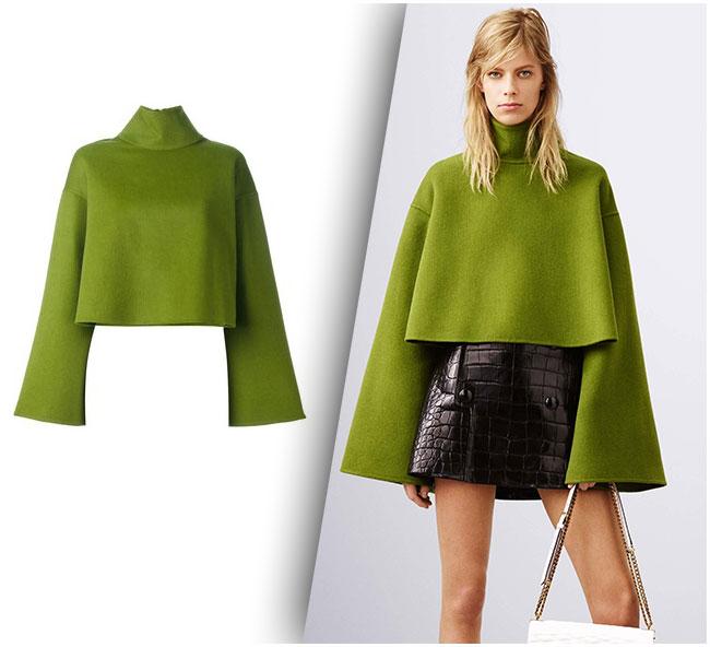 Bally Green Woolen Top