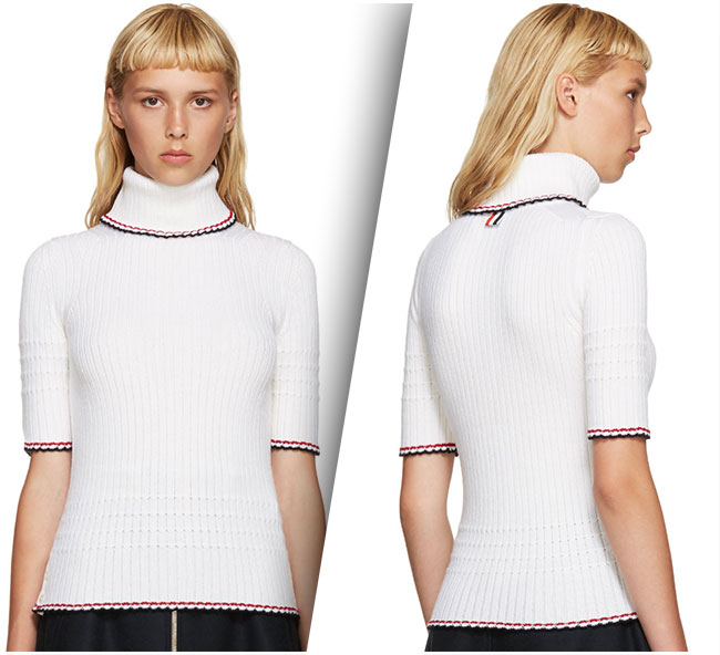 Thom Browne Ivory Turtleneck