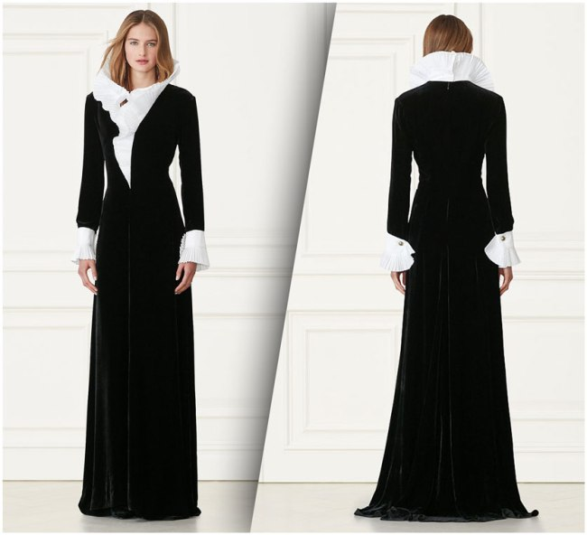 Ralph Lauren Emmy Velvet Dress