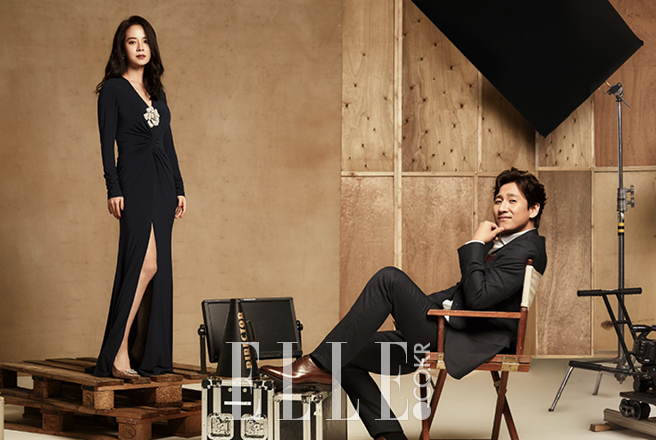 Song Ji Hyo Lee Sun Kyun photo c/o Elle