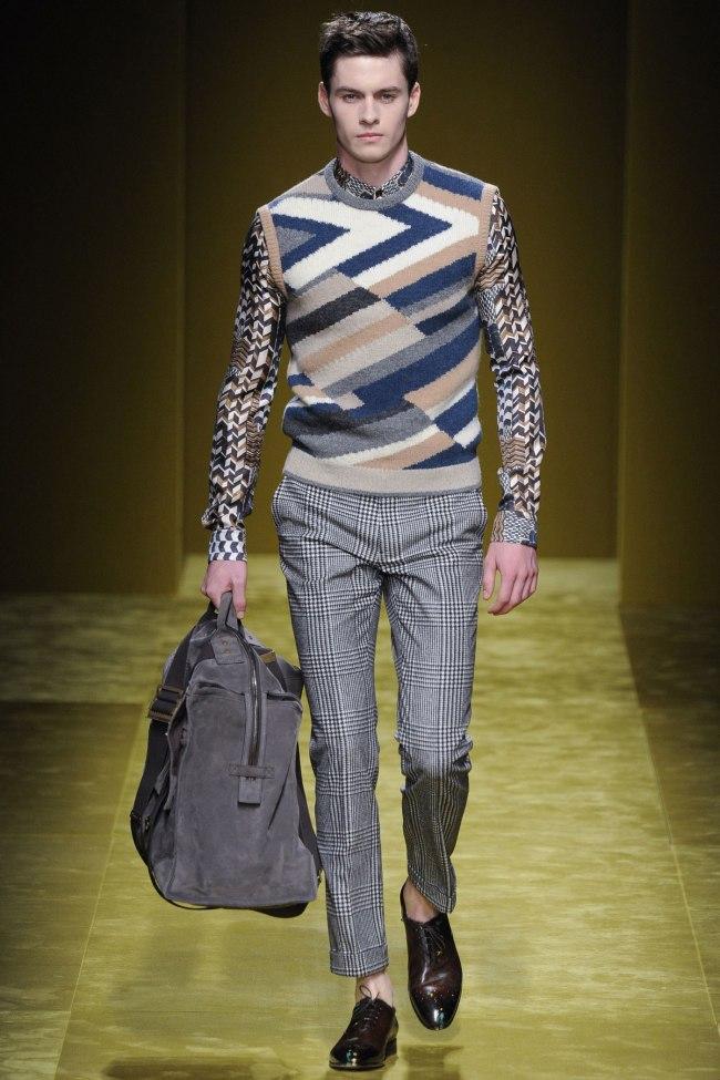 Model photo c/o Vogue from Salvatore Ferragamo's Fall 2016 Menswear Collection