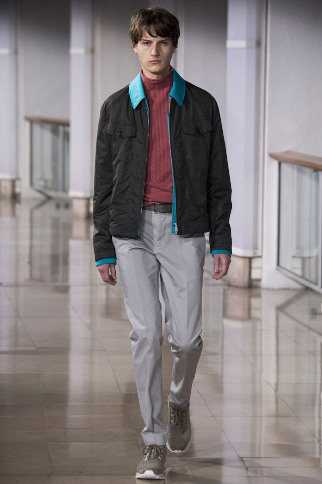 Model photo c/o Vogue from Hermès' Fall 2016 Menswear Collection