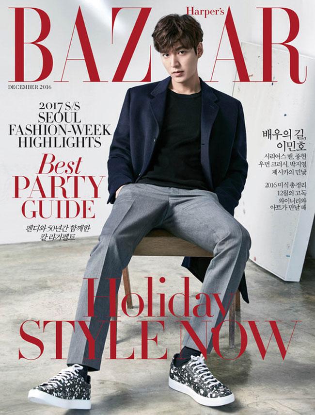 Lee Min Ho c/o Harper's Bazaar