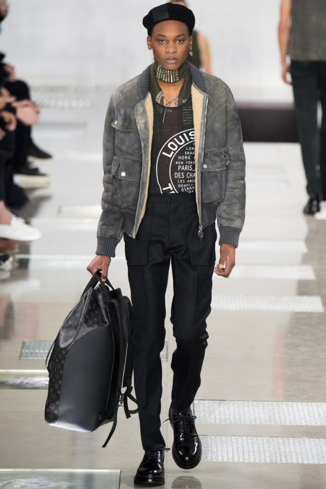 Model photo c/o Vogue from Louis Vuitton's Fall 2016 Menswear Collection