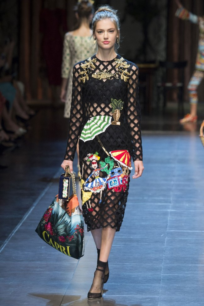 Model photo c/o Vogue from Dolce&Gabbana's Spring 2016 Collection