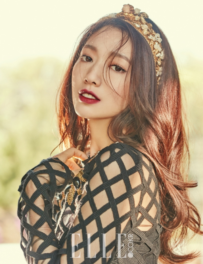 Park Shin Hye photo c/o Elle magazine
