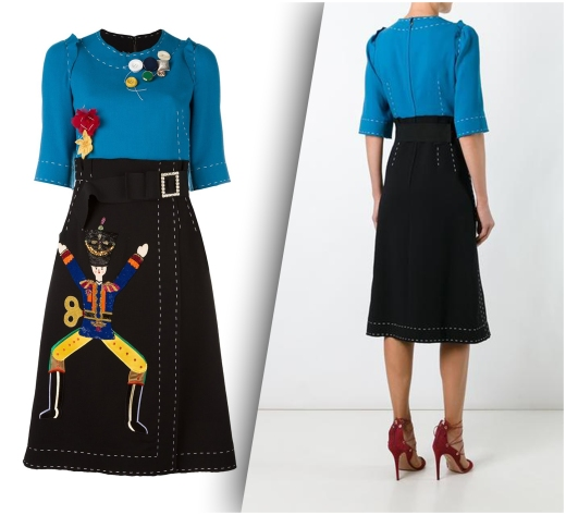 Dolce&Gabbana embellished color block dress from Dolce&Gabbana's Fall 2016 Collection
