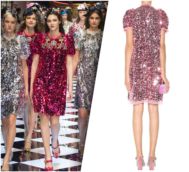 Dolce&Gabbana's Pink Sequin Dress