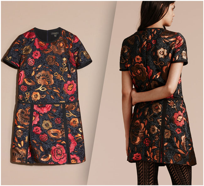Burberry Jacquard Floral Shirtdress