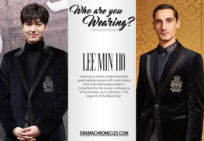 Lee Min Ho photo c/o Newsen | Model photo c/o Dolce&Gabbana