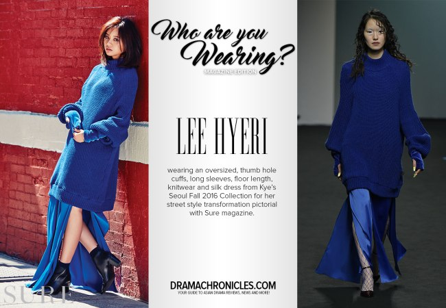 Lee Hyeri photo c/o Sure | Model photo c/o Vogue from Kye's Seoul Fall 2016 Collection