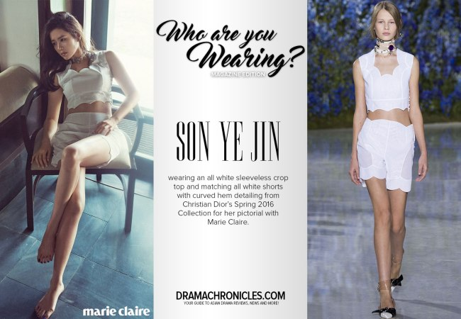 Son Ye Jin photo c/o Marie Claire magazine | Model photo c/o Vogue from Christian Dior's Spring 2016 Collection