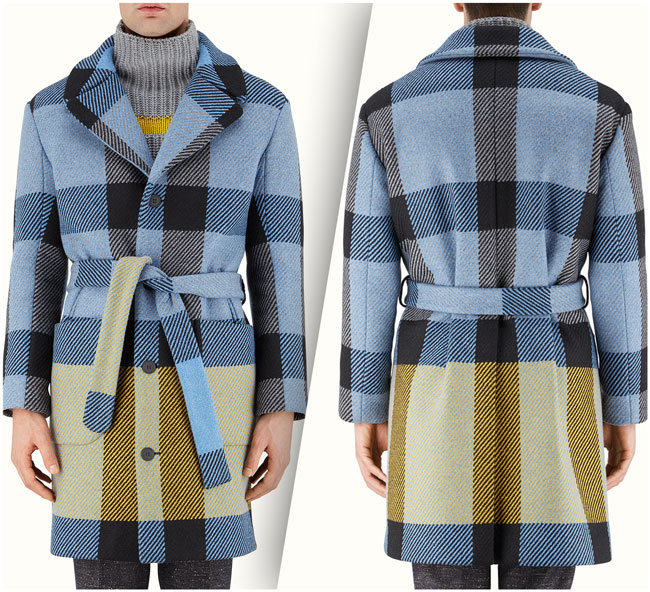 Fendi Coat from Fendi's Fall 2016 Menswear Collection