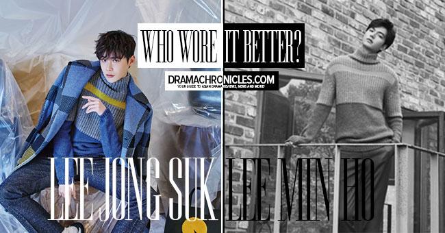 Lee Jong Suk c/o InStyle | Lee Min Ho c/o Harper's Bazaar