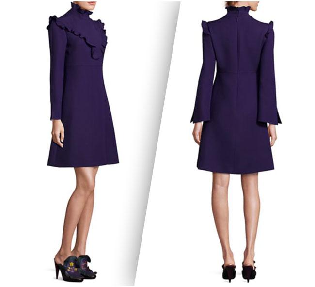 Fendi Ruffle Trim Dress