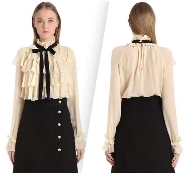 Gucci Ruffled Shirt