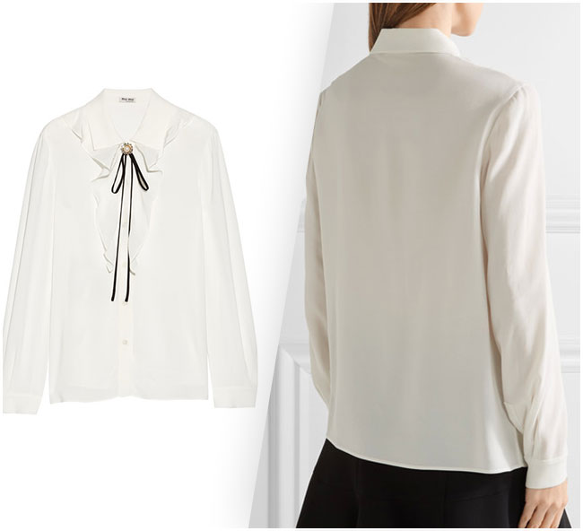 Miu Miu's ruffled blouse