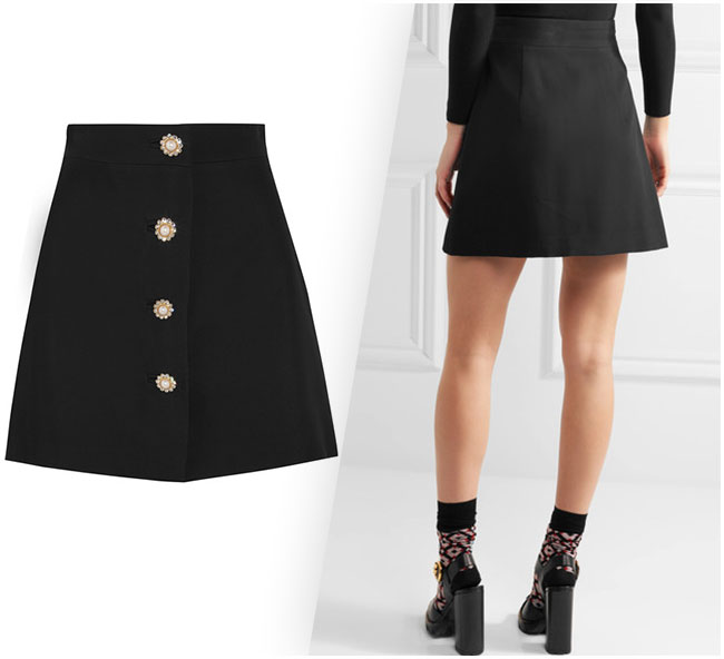 Miu Miu's mini skirt