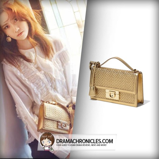 Salvatore Ferragamo Chevron Gancio Lock Shoulder Bag (GBP 1,385).