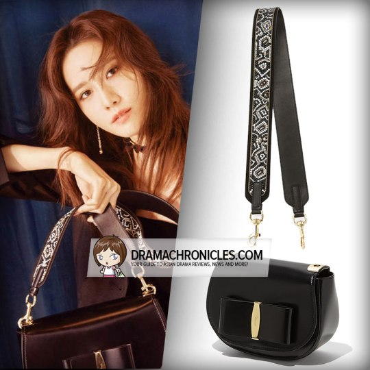 Salvatore Ferragamo Anna Shoulder Bag (GBP 935) and Mosaic Strap ($550).