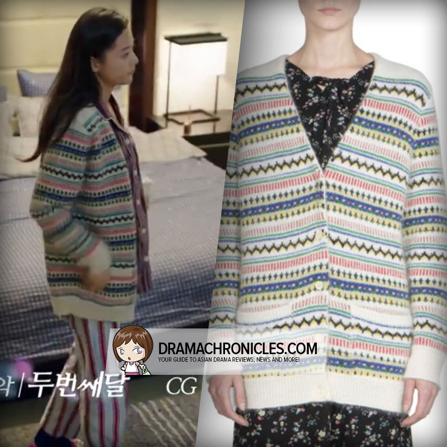 Jun Ji Hyun wearing a Saint Laurent Cardigan.