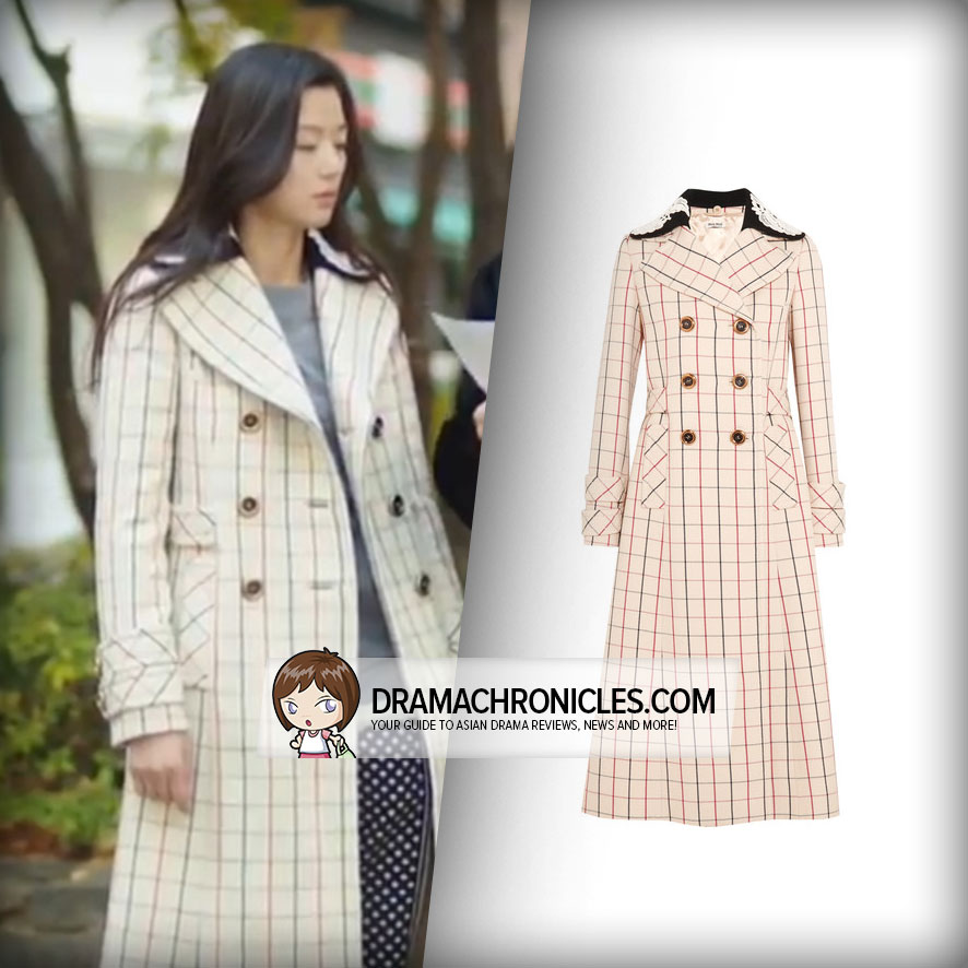 Jun Ji Hyun wearing Miu Miu Coat