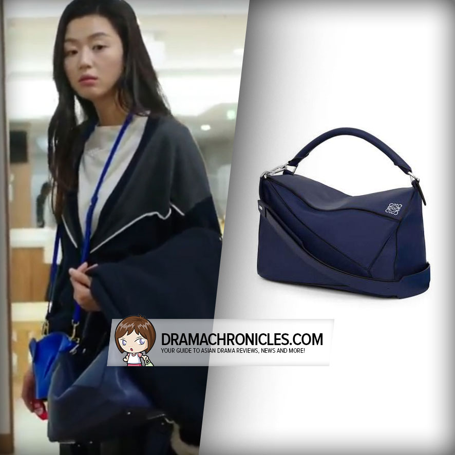 Jun Ji Hyun wearing Loewe's Puzzle Bag.