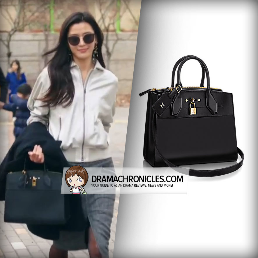 Jun Ji Hyun wearing Louis Vuitton's City Steamer Bag.