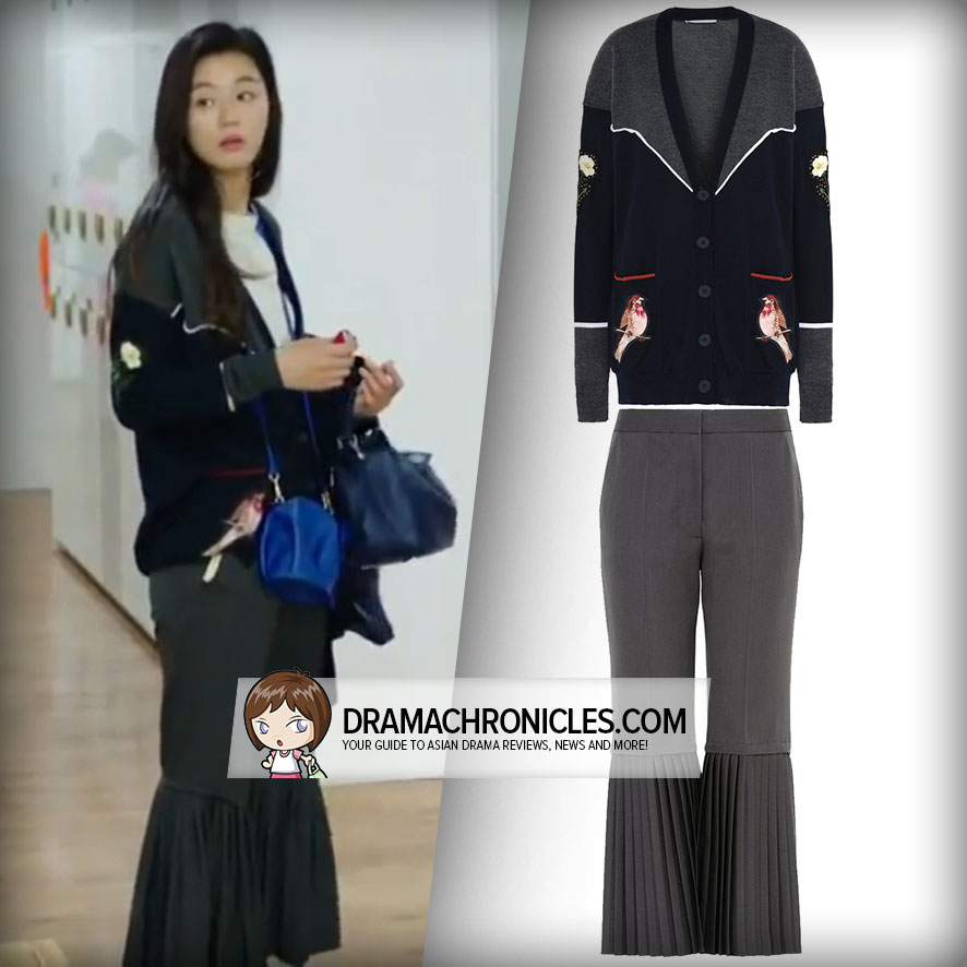 Jun Ji Hyun wearing Stella McCartney's Cardigan and Pants.