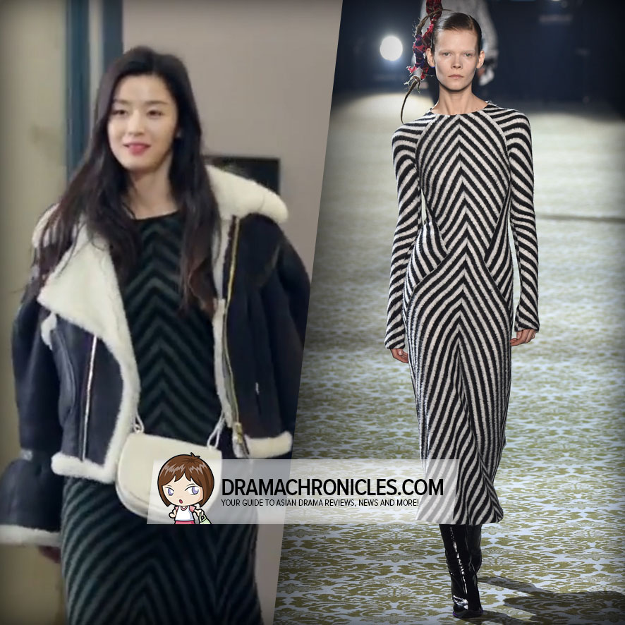 Jun Ji Hyun wearing a look from Haider Ackermann's Fall 2016 Collection