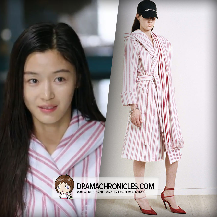 Jun Ji Hyun wearing a look from Balenciaga's Resort 2017 Collection.