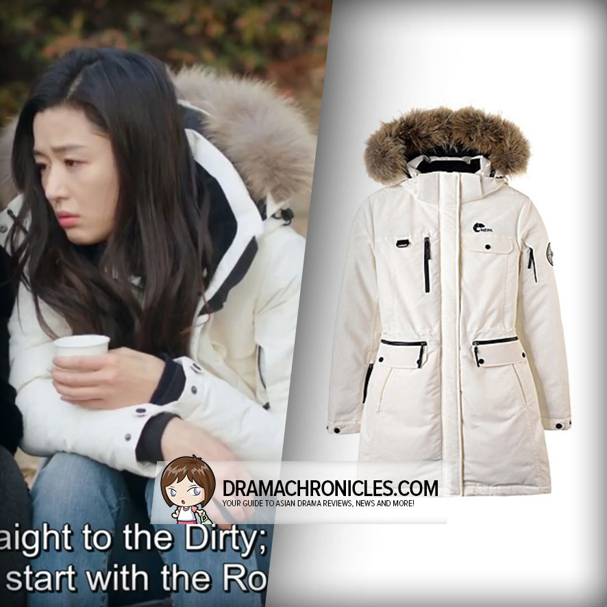 Jun Ji Hyun wearing Nepa's Alaska Down Jacket.
