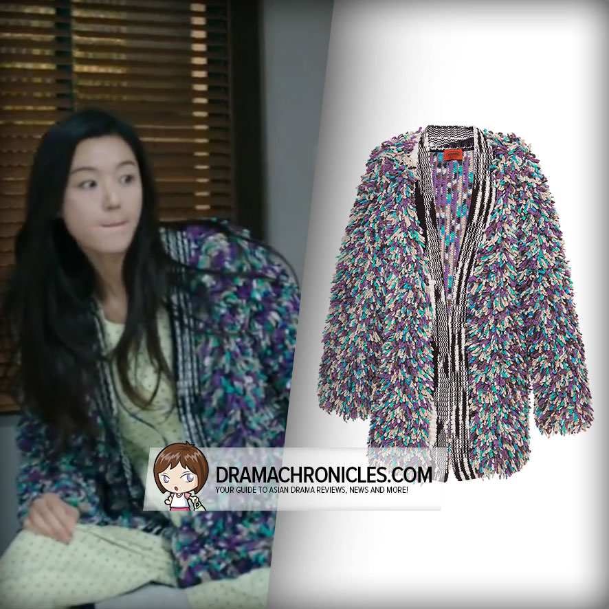 Jun Ji Hyun wearing Missoni's Cardigan.