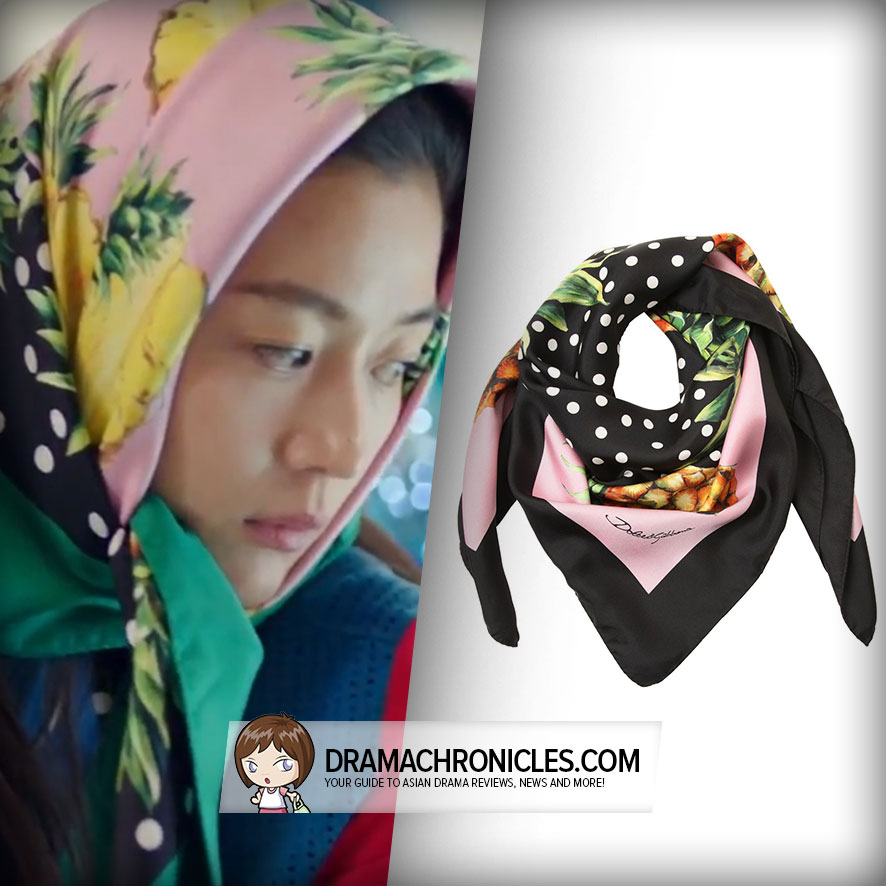 Jun Ji Hyun wearing Dolce&Gabbana Scarf