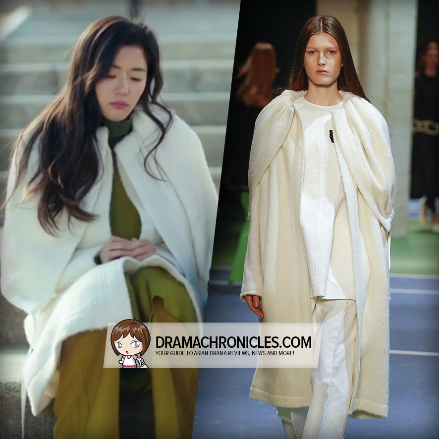 Jun Ji Hyun wearing a coat from Céline's Fall 2016 Collection.