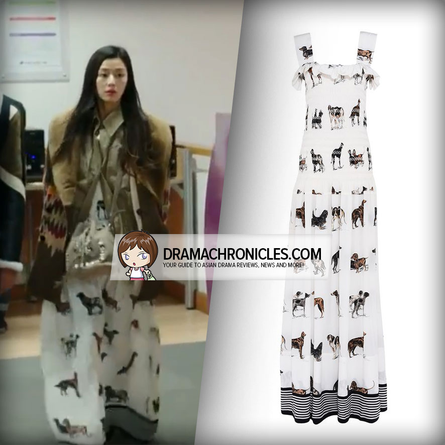 Jun Ji Hyun wearing Stella McCartney's Animal Print Dress