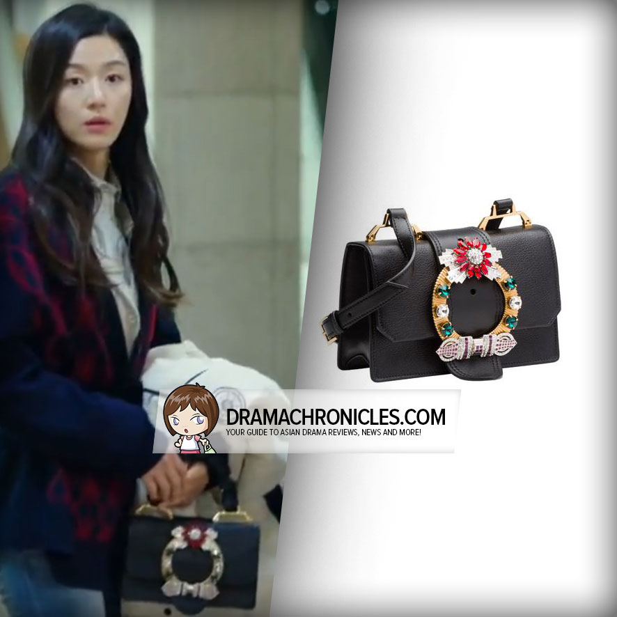 Jun Ji Hyun wearing a Miu Miu Bag.