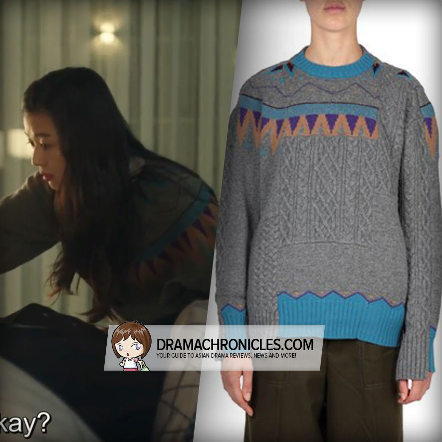 Jun Ji Hyun wearing Sacai's Jacquard Sweater.