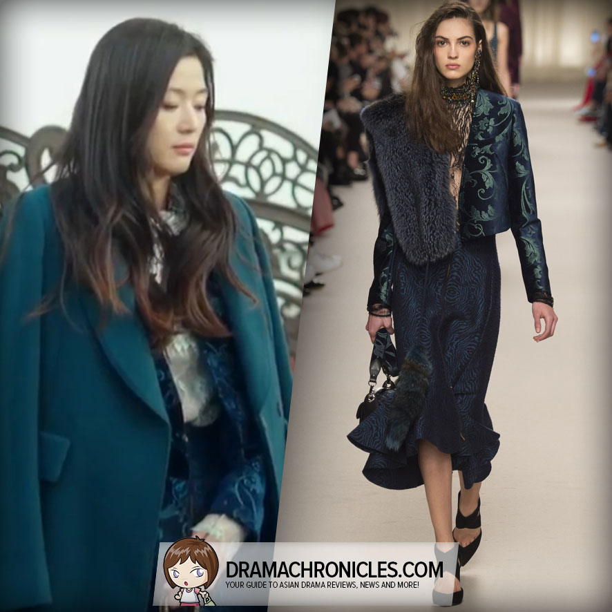 Jun Ji Hyun wearing a Lanvin Fall 2016 Collection.