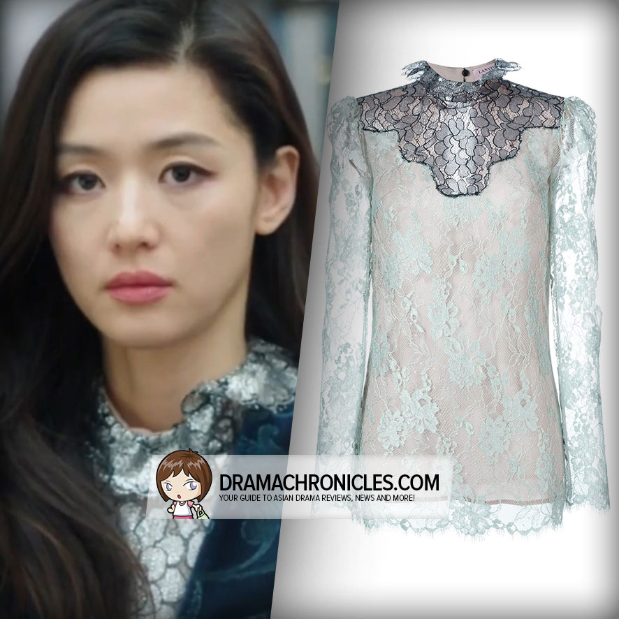 Jun Ji Hyun wearing a Lanvin Blouse.